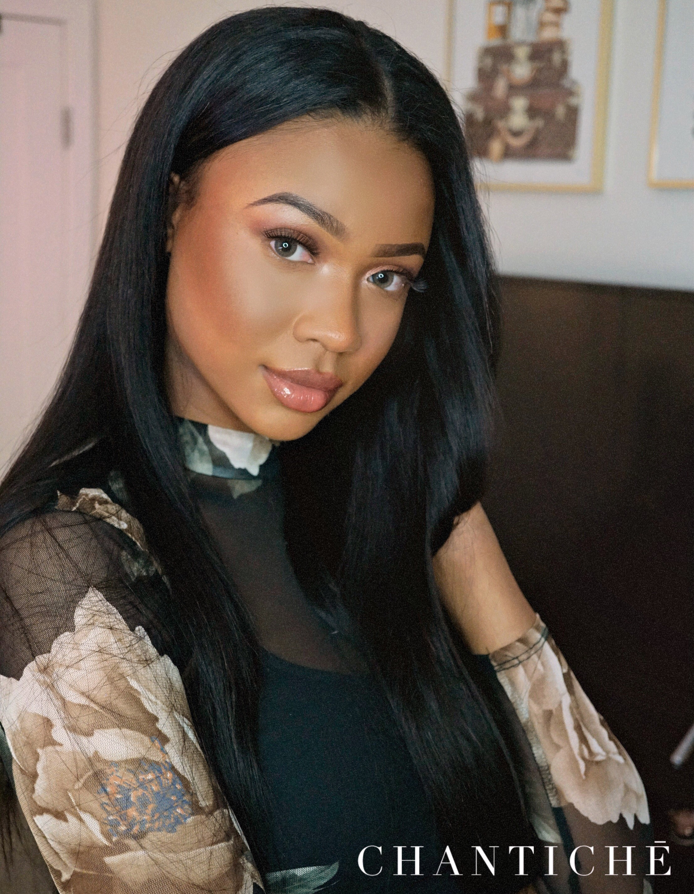 Lynsey Recommend Silky Straight Brazilian Virgin Human Hair Middle Parting U Part Wig