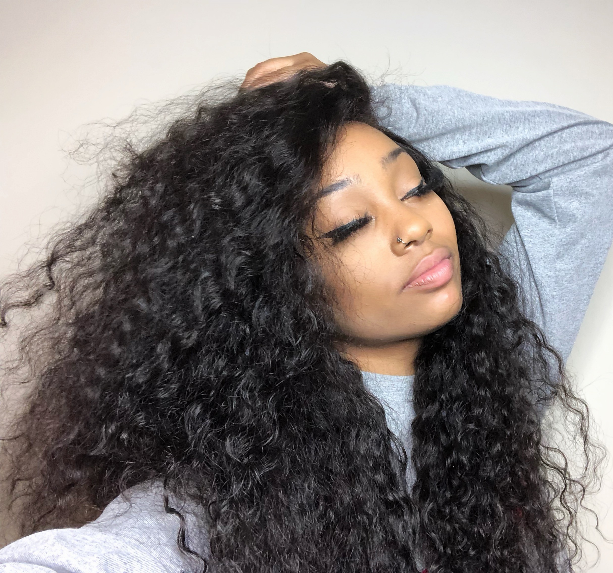 Kheumani Recommend Water Wave Brazilian Virgin Human Hair 360 Lace Frontal Wig 6 Inch Deep Parting