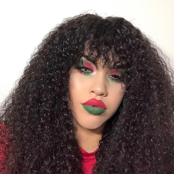 Jerry Curly Brazilian Virgin Human Hair 360 Lace Frontal Wig New