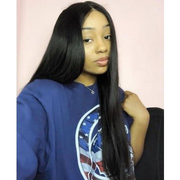 Kheumani Recommend Silky Straight Brazilian Virgin Human Hair 360 Lace Frontal Wig