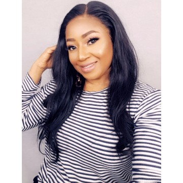 Celebrity Recommend Best Hair Silky Straight Brazilian Virgin Human Hair 360 Lace Frontal Wig