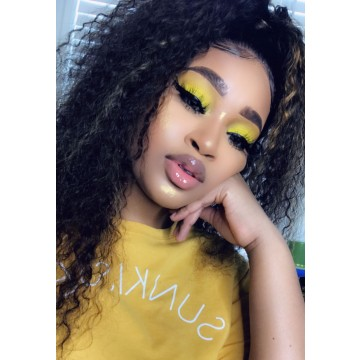 Domi Recommend Popular Color Kinky Curly Highlight Ombre Color Lace Front Wig