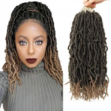 100% Premium Fiber Hair Nu Locs Crochet Braiding Hair (You can apply various colors together!)