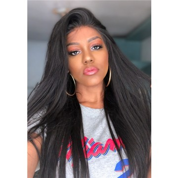 WappaModa Recommend Yaki Straight Brazilian Virgin Human Hair 360 Lace Frontal Wig